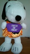 """Trick or Treat 23"""" Plush Halloween Snoopy With Small Candy Bag"""
