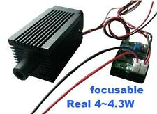 Professional 4000mw 445nm 450nm blue laser module with TTL focusable engraving