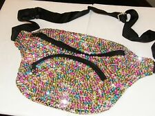 SEQUIN FANNYPACK MULTI COLOR GLITTERING PURSE WEAR ALL YEAR MATCHES EVERY COLOR