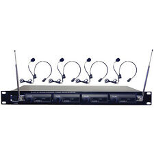 Pyle Pdw-m4400 4-channel Vhf Wireless Microphone System (pdwm4400)