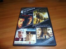 Seven/Troy/Babel/Curious Case Of Benjamin Button (DVD 4-Disc) Brad Pitt Used