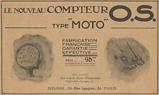 Y7754 Compteur O.S. type Moto - Pubblicità d'epoca - 1914 Old advertising