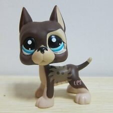 Hasbro Littlest Pet Shop Collection LPS Figure RARE Brown Great Dane Dog Puggy