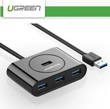 UGREEN 4 Ports USB 3.0 5Gbps Hub Charger WITH 50cm Cable - Black