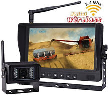 "9"" DIGITAL WIRELESS AGRICULTURE REAR VIEW BACKUP CAMERA SYSTEM,NO INTERFERENCE"