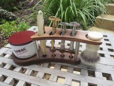 The organizer  all wood Safety or Straight Razor Brush Display Stand