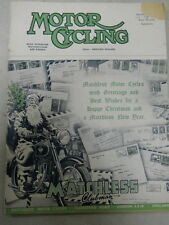 Motor Cycling Magazine, Dec 24, 1953, Matchless Clubman,   red box