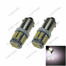 2X White BA9S 57 W6W 10 LED 7020 License Plate Light Map Bulb Dome Lamp 20060