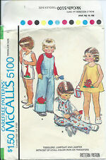 M 5100 sewing pattern JUMPSUIT JUMPER sew Giraffe Elephant Lion TRANSFERS size 1