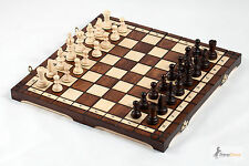 Brand New Hand Crafted Olympic Wooden Chess Set 35cm x 35cm