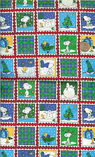 """OOP!  SNOOPY STAMPS RED/BLUE/GREEN - REL. 2001 - FQ - 18""""X22"""""""