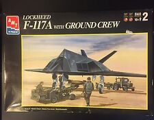AMT Ertl Lockheed F-117A With Ground Crew Model Kit In Original Box, 1/72 Scale