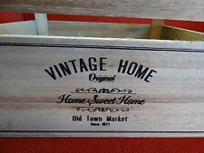 VINTAGE STYLE WOODEN CRATE STORAGE BOX FRUIT CRATE BASKET HOME SHABBY CHIC STORE