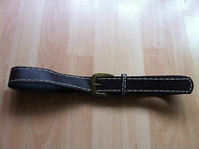 FAUX LEATHER BELT UNISEX BRASS BUCKLE ADJUSTABLE BELT BROWN CLOTHING ACCESSORY