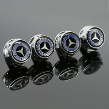 For Mercedes-Benz Car Logo License Plate Frame Screw Bolts Cap Cover