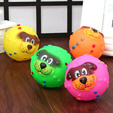 Pet Dog Giggle Ball Tough Treat Training Chew Sound Activity Toy Squeaky New