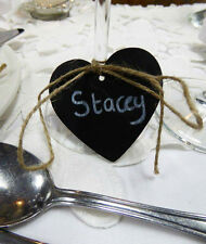 10x Mini Heart Wooden Chalkboard Perfect for Vintage Wedding Tables & Decoration