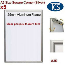 5pcs High quality Clip Snap Frame A3 Square Corner /Poster Frame/Picture Silver