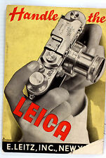 "Original Leitz NY Sales Brochure ""Handle the Leica"" - 24 pages - Oct. 1938"