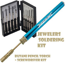JEWELERS SOLDERING KIT BUTANE PENCIL TORCH + PRECISION SCREWDRIVER SET U301