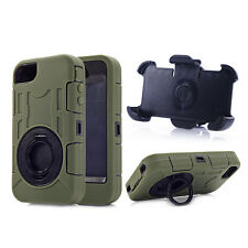 Defender Case with Build in Screen Protector w/Belt Clip for iPhone 4 4S Army