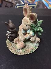 "1992 Enesco Cream and Cocoa ""Friendship is for Sharing Statue"