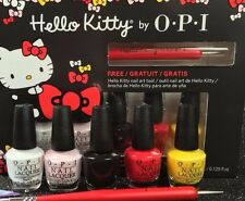New! OPI ~HELLO KITTY~ Mini Nail Polish Lacquer Set 5 Colors + 1 Nail Art Tool!!