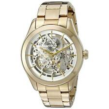 Kenneth Cole 10025927 Lady's Automatic Silver Skeleton Dial Watch