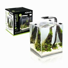 SHRIMP SET SMART LED 20 BLACK AQUAEL MINI AQUARIUM FOR SHRIMPS PLANTS SMALL FISH