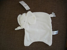 MARKS AND SPENCER M&S WITH LOVE CREAM WHITE ELEPHANT COMFORTER BABY SOFT TOY