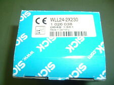 SICK WLL24 2X230 SENSOR... PHOTOELECTRIC............. PART 1026038 NEW  PACKAGED