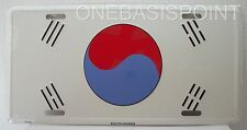 South Korea Flag License Plate Metal Aluminum Embossed Sign Car Tag Auto Truck
