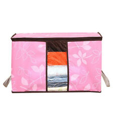 Flower Printed Quilt Storage Bags/See-through Collapsible Storage Bags Pink Gift