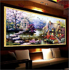 YGS-32 DIY 5D Diamond Mosaic Landscapes Garden lodge Full Diamond Painting Cross
