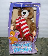 VINTAGE SKIING BEAR BATTERY OPERATED 1986
