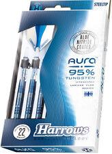 Harrows Aura 22g Steel Tip Darts 95% Tungsten 52634 w/ FREE Shipping