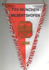 Orig.Wimpel  TSV MÜNCHEN MILBERTSHOFEN  //  26 cm - mit Metallstange  !!  SELTEN