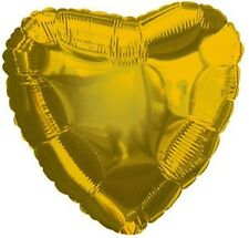 "18"" Solid Gold Heart Shape Balloon Wedding Baby Shower Birthday Over Hill Luau"