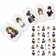 Tattoo Nail Art Manga Glitzer Anime Japan Aufkleber Nagel Sticker Neu!