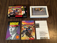 Sunset Riders (Super Nintendo, SNES) Complete with the Box and Manual - Tested