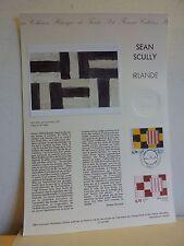Premier jour * Fiche Musée postal * Sean SCULLY