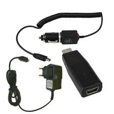 Stromkabel f. TomTom One V2 + KFZ Ladekabel + Adapter mini USB-Buchse