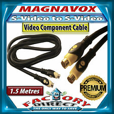 1.5m Metre Magnavox S-VHS Male to S-VHS Male Audio Video S-Video Cable