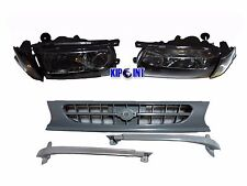 For Nissan B13 Sentra Headlight Corner Grill Conversion Tsuru Kit 91-94 Black