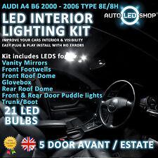 AUDI A4 B6 ESTATE 00-06 LED INTERIOR UPGRADE COMPLETE KIT SET BULB XENON WHITE