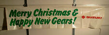Vintage Suzuki Dealership Christmas Banner