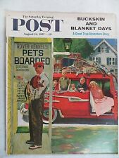 Saturday Evening Post Magazine  August 24,1957  Earl Mayan  VINTAGE ADS