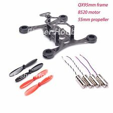 Micro QX95 95mm carbon fiber Quadcopter Frame Kit + 8520 Coreless Motor +55 Prop