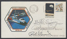 STS-6 Launch Cover signed by 3 McDonnell Douglas Managers: Simon, Smith, LeBroad