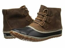 SOREL Women Out 'N About Leather Waterproof Boots Shoes , ELK SIZE 6 US (EU 37)